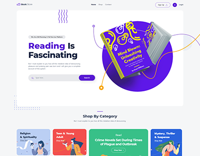 Bookstore make by Elementor and woocommerce