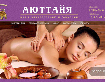 spa-salon website design