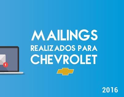 Mailings realizados para Chevrolet