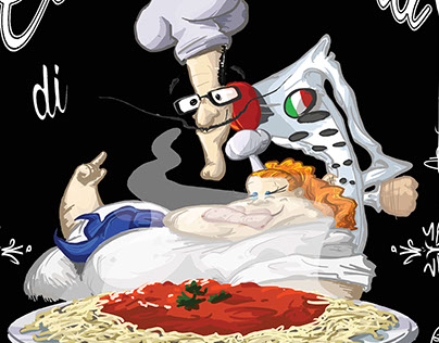 A logo for an italian food joint