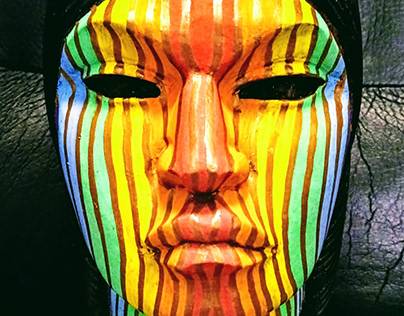 Native American Woman Psychedelic Statue