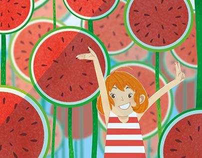 Watermelon mood | Illustration