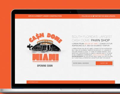 Cash Dome Miami - Landing Page
