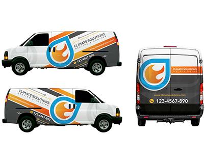 Eye-catching van wrap for perfect branding