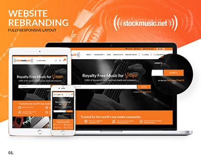 Stockmusic - website rebranding
