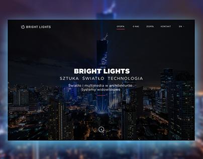 Bright Lights web design