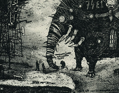 elephant city02. etchings.