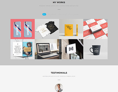 WordPress portfolio website design