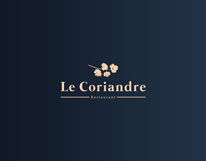 Le Coriandre Restaurant | Brand Identity