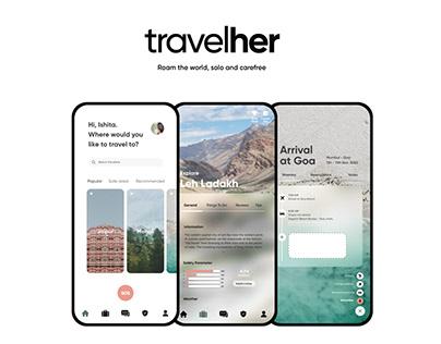 Travelher - UI/UX app design