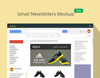 Gmail Newsletter Mockup On Behance - Free email newsletter templates for gmail