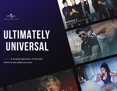 Universal Music Germany - Redesign 2017