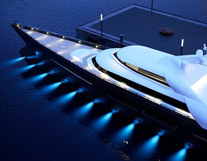 cgi: mega - yacht 3d model