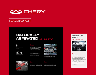 Chinese Car Chery – Concept Website