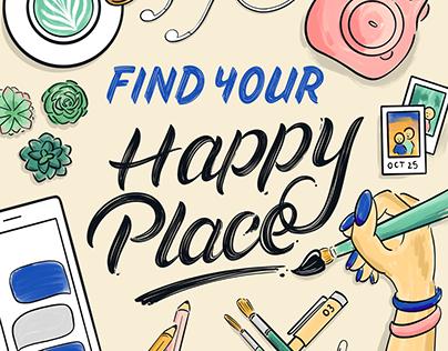 Joann Fabrics: Find Your Happy Place Digital Art