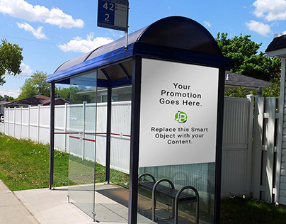 Free Photoshop Mockup - Bus Stop Promo