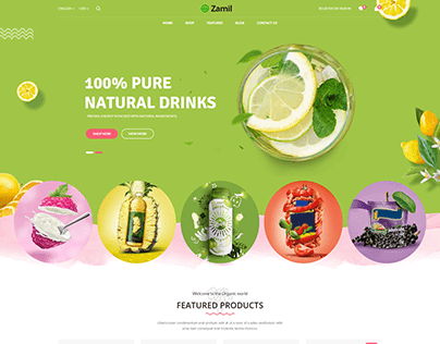 Organic Store- Website Design