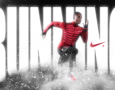 Nike Running | Vector Mask and Gradient.