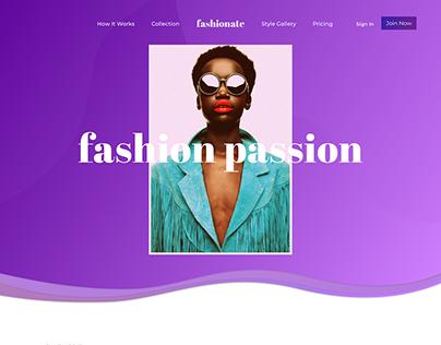 Fashionate - Website and Mobile UI design
