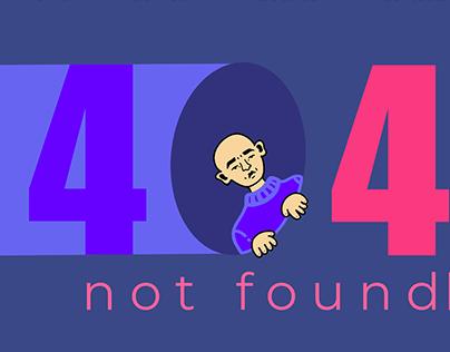 404 not found page design