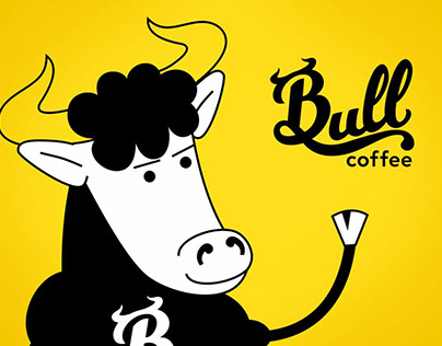Coffee Bull. Dynamic brand for a coffeehouse