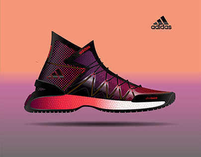 adidas athletic boot. ultra boost midsole.
