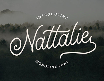 Nattalie Monoline Font