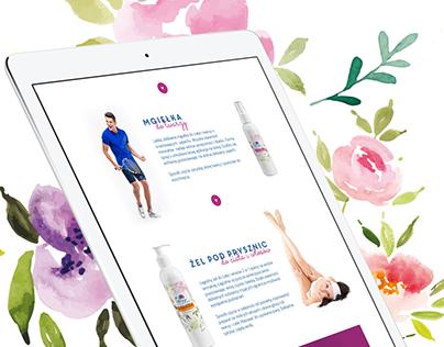 Kosmetyki termalne - RWD website