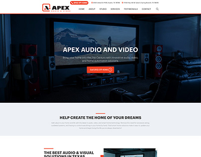 Apex Audio and Video - WordPress Website Build