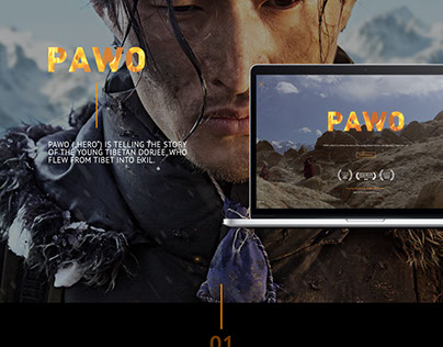 "Website film project ""PAWO""."