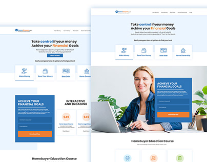 Finalcial Web Tempalte Design