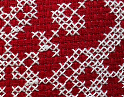 Slavic embroidered cushions