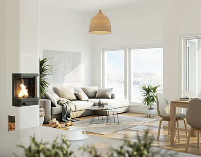 Package of Scandinavian interiors made in 2019