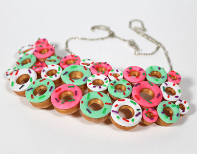 3-D Printed Donut Necklace
