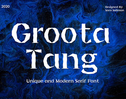 Groota Tang font