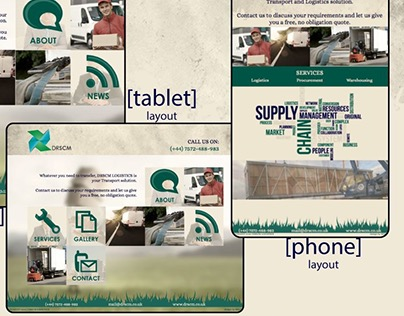 Website design for desktop, tablet and phone.