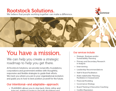 Rootstock Solutions - One Page Overview