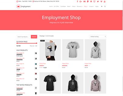 Shop Page - Employment WordPress Theme