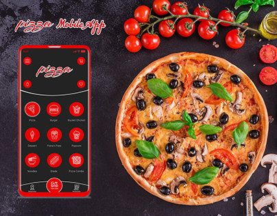 Pizza Mobile App UI/UX Design