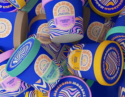Meltdown Moment Ice Cream Packaging