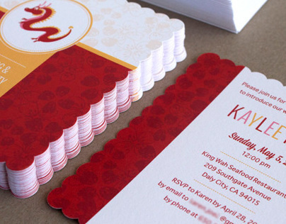 Red Egg and Ginger Party Invitations