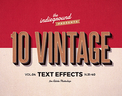 Retro/Vintage Text Effects Vol.4