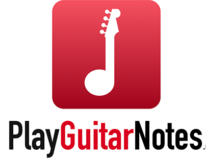 logo for play guitar notes