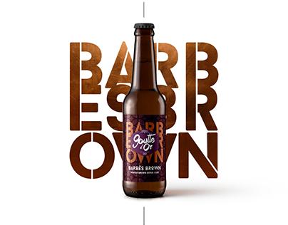 Bière Barbès Brown - Packaging