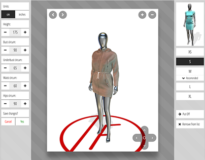 Virtual 3D fitting room