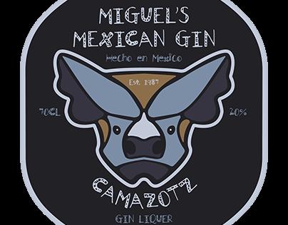 Camazotz Gin Label