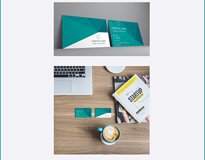 Low polygon Business card