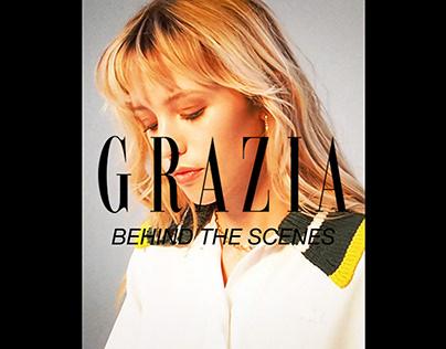 Grazia behind the scenes
