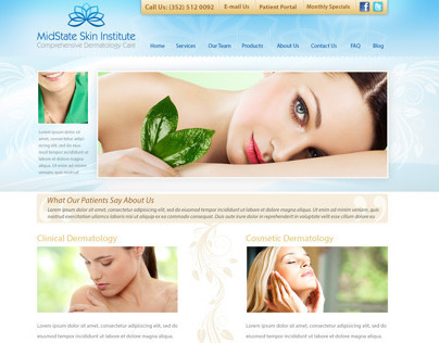 MidState Skin Institute Website Design