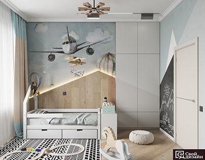 The little pilot's room. Children's room.
